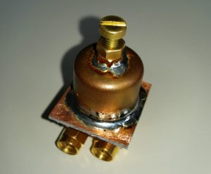 Pipe cap filter for 3.4 to 13GHz range